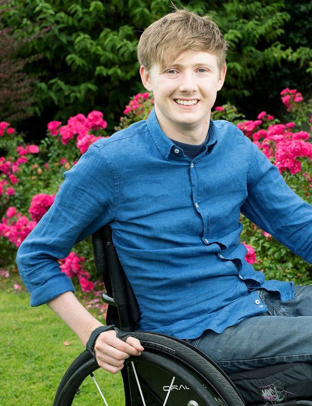 Staying positive: Jack Kavanagh has learned to cope with the injuries sustained in his accident