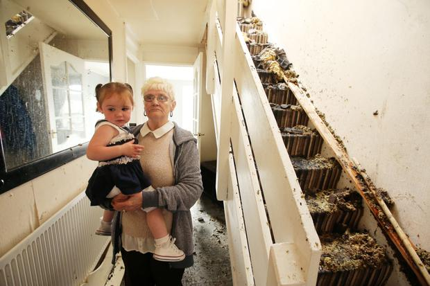 Lily with her great-granddaughter Skyla Hogg, who was with her in the Hopewell Square house when it caught ablaze