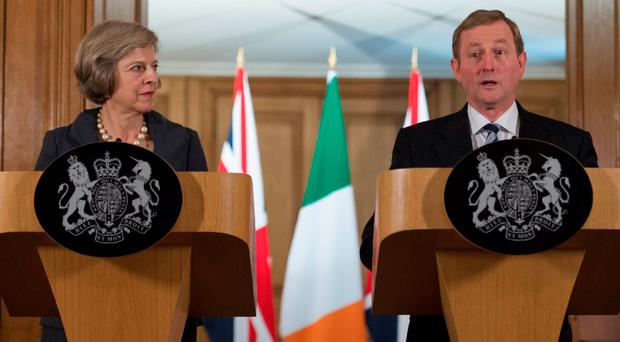 United front: PM Theresa May with Taoiseach Enda Kenny