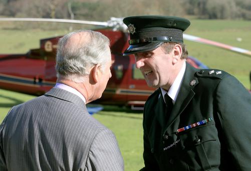 Inspector Robinson meets Prince Charles on a visit to Fermanagh in 2014