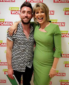 Ryan with Ruth Langsford