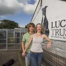 Rob and Olivia of Lucy's Trust on their farm