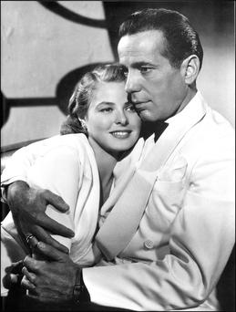Screen chemistry: Ingrid Bergman and Humphrey Bogart in Casablanca, 1942