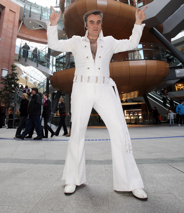 Jailhouse Rocker: Elvis tribute artist Jim Brown has made a living from impersonating his hero