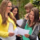 Good result: Pupils at Victoria College celebrate results