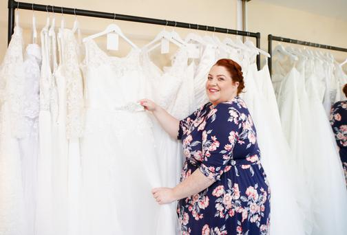 Big business: Rebecca Bryson runs her wedding shop from home