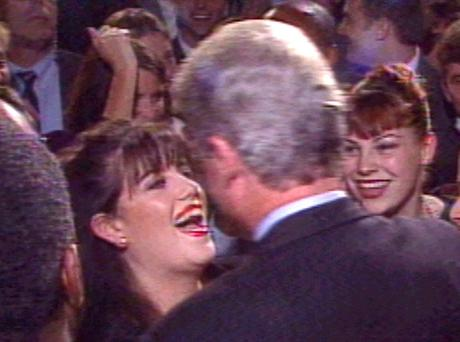 Bill Clinton with intern Monica Lewinsky. The White House intern was at the centre of the 42nd president's 1998 impeachment