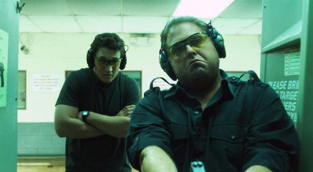 On target: Jonah Hill and Miles Teller as arms dealers in War Dogs