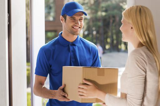 Hassle free: more firms are offering a home delivery service for goods bought online