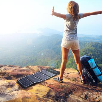 RAVPower 24W Solar Charger, £52.99 from £135, www.amazon.co.uk