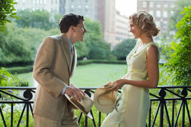 Jesse Eisenberg as Bobby Dorfman with Blake Lively as Veronica Hayes in Cafe Society