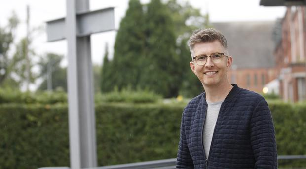 Musical adventure: Gareth Malone at Ulster Temple on his trip to Belfast