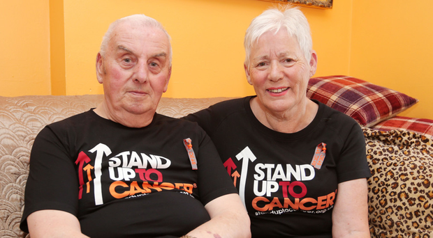 Cancer fight: James Hall and wife Jean have both battled the disease