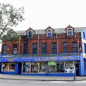 Pawn survivor: Geddis's pawnshop on the York Road in Belfast today