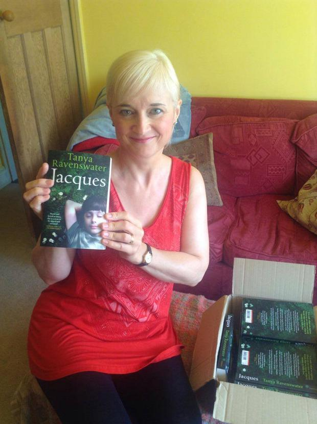 Tanya Ravenswater with her debut novel Jacques, which was a lifetime ambition