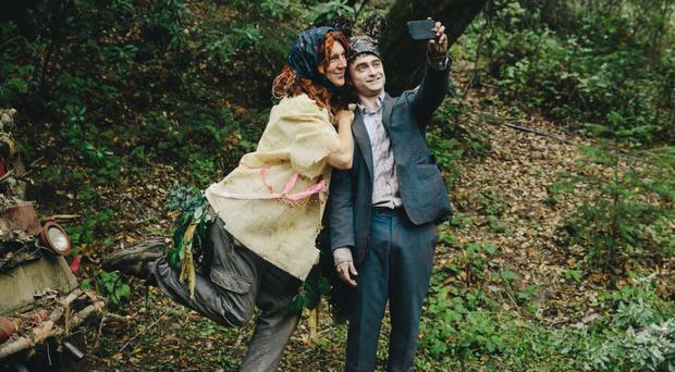 Video nasty: Paul Dano annd Daniel Radcliffe in Swiss Army Man