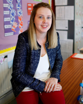 Life lessons: teacher Julie Stevenson at Parkhall Primary School in Antrim