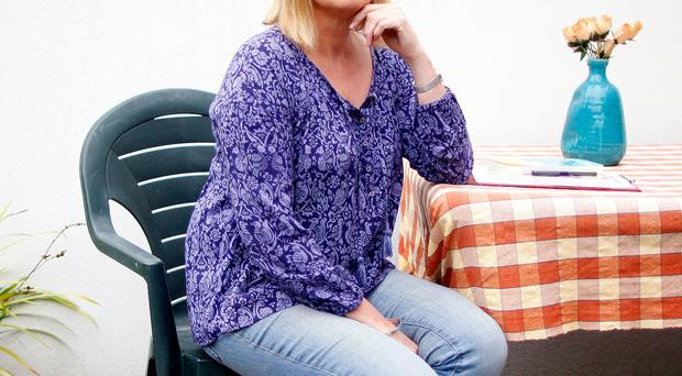 Nuala McKeever relaxing at home