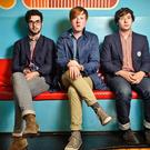 Gameshow hosts: Kevin Baird, Alex Trimble and Sam Halliday of Two Door Cinema Club