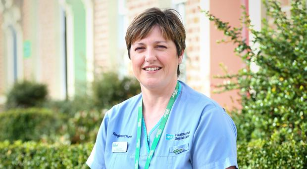Huge help: Macmillan nurse Caroline Kerr helped Alan as he underwent rounds of chemo