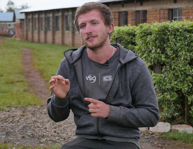 Diarmuid Laverty who volunteered in Kenya's deaf community