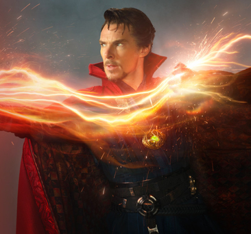 Super roles: Benedict Cumberbatch in his latest movie Doctor Strange