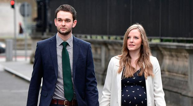 Dangerous precedent: Daniel McArthur, managing director of Ashers Bakery and his wife Amy at court this week to hear the verdict