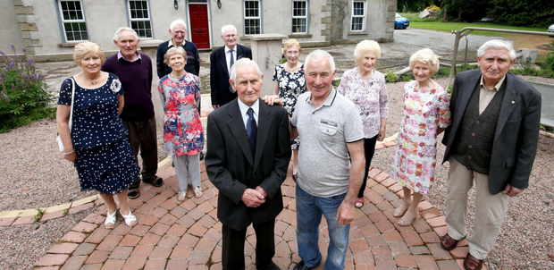 From left to right: Kathleen (74), Seamus (79), Terry (80), Rose (84), Tony (82), Sean (92), Mairead (85), Leo (70), Eileen (89), Maureen (91), Peter (86)