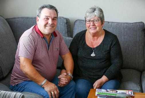Calmer life: Linda Tavares and her husband Humberto