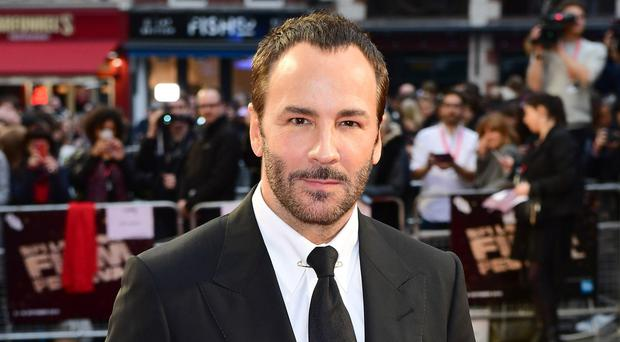 Lucky man: Tom Ford at the London premiere of Nocturnal Animals