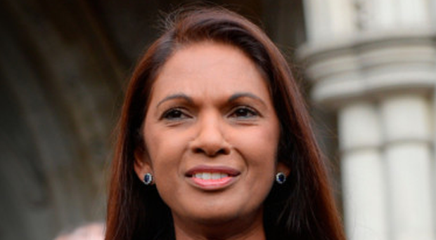Victory role: Gina Miller outside the High Court in London