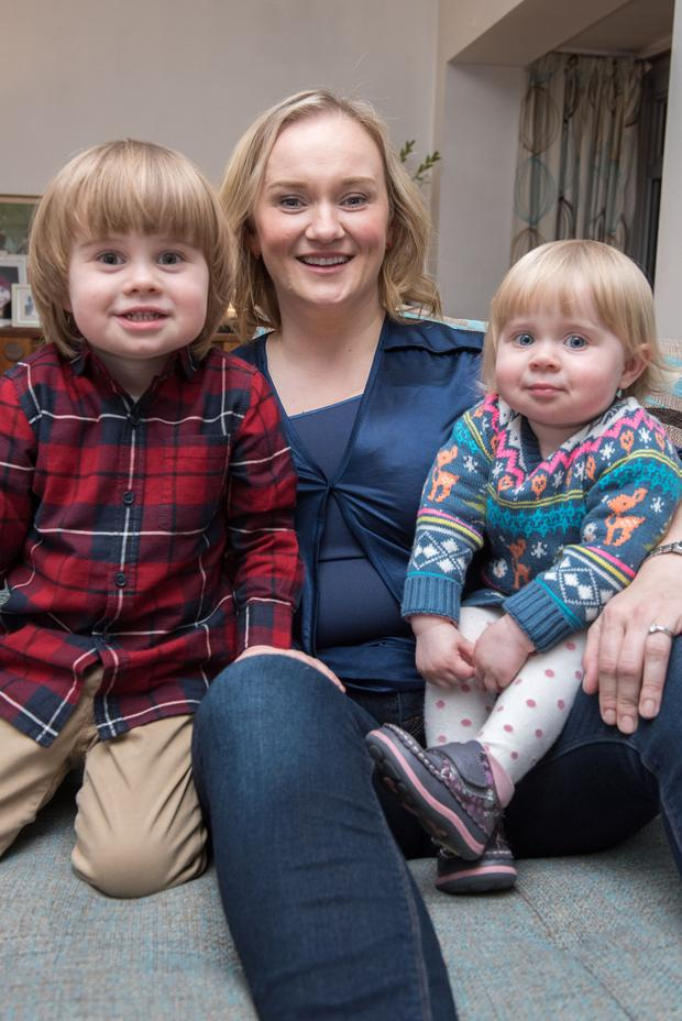 Family first: Catherine Ross with Evan and Florence