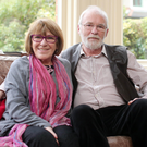 Actor Ian McElhinney at home with his writer wife, Marie Jones, in east Belfast