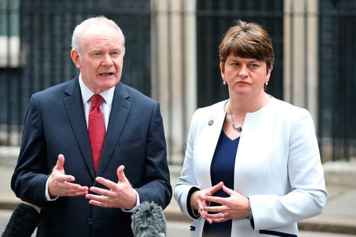 Work to do: Deputy First Minister Martin McGuinness and First Minister Arlene Foster