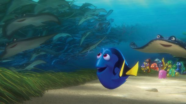 Dory, voiced by Ellen DeGeneres
