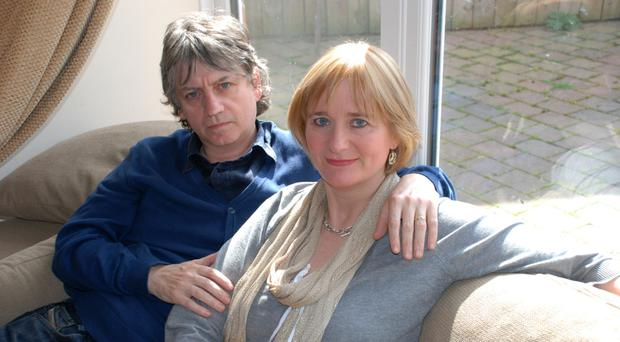 Close bond: Bap Kennedy and his wife Brenda