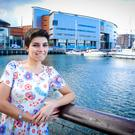 City life: Maryam Sholevar at the SSE Arena in Belfast
