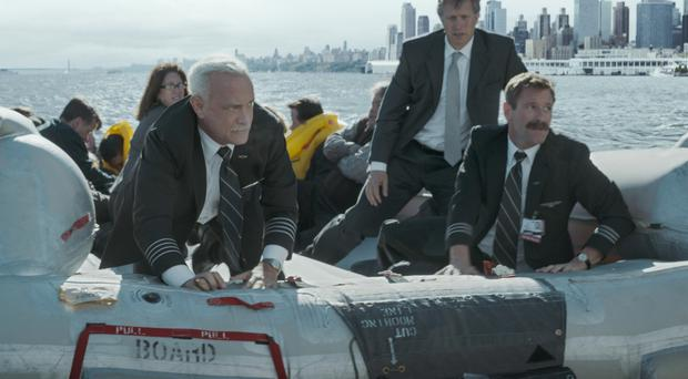 Star turn: Tom Hanks with Aaron Eckhart in the film Sully: Miracle on the Hudson