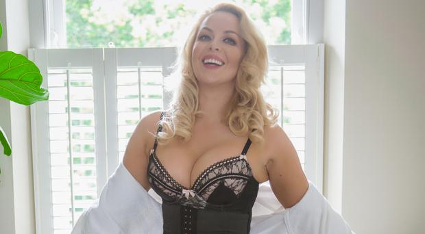 Waist away: model Gemma Garrett wearing a Cinch Corset