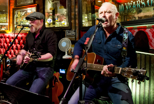 Band of brothers: Jim and Bill Ingram now have a residency in Belfast's Harp Bar