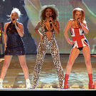 Old Spice: Mel C (left) with Emma Bunton, Mel B, Geri Halliwell and Victoria Beckham at the Brit Awards in 1997