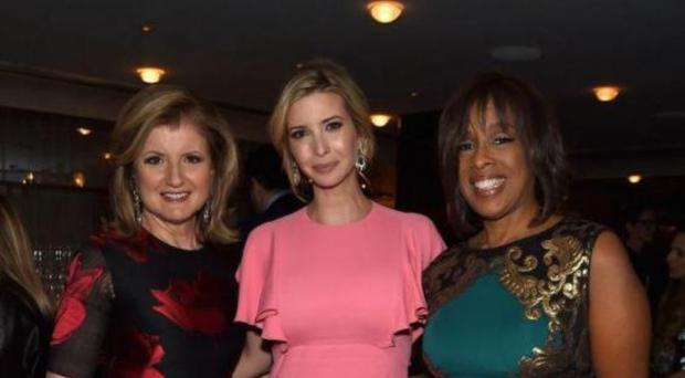 Going strong: Arianna Huffington with Ivanka Trump and Gayle King
