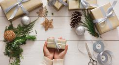 Wrapped up: beauty gifts are extremely popular at Christmas