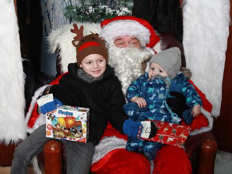 Santa with Zade and Eli Lough, from Carrickfergus