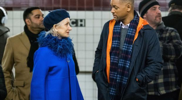 Big names: Collateral Beauty stars Helen Mirren and Will Smith