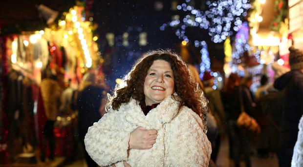 Festive work: Kim Lenaghan won't be putting her feet up at Christmas