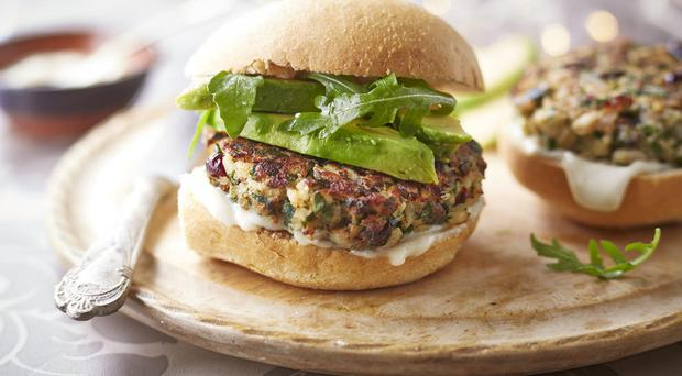 Leftover turkey burgers