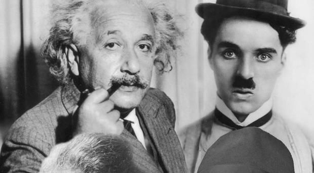 Influential figures: clockwise from top left, Albert Einstein, Charlie Chaplin, Marie Curie and John Ford