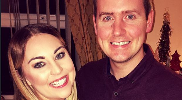 Family support: Blathnaid Scullion with husband Gerard