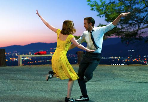 Fancy footwork: Emma Stone and Ryan Gosling dance in La La Land